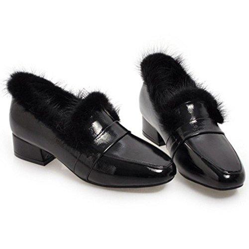 Black Shoes Court Women's Fashion TAOFFEN 4qfBaxq