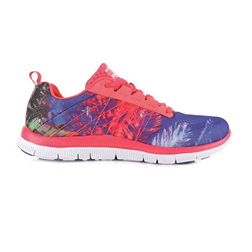 Sketchers Appeal Trade Winds scarpe da ginnastica da donna in acciaio inox Flex - coralli, tessuto, 39