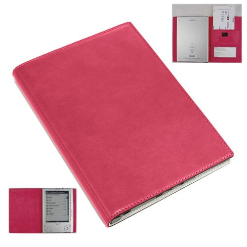 Sony PRSPLC02 Leather Cover for PRS505 Digital Book Reader - Pink