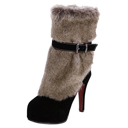 Boots Zipper Fashion KemeKiss Black Party Women tw7AqAa0