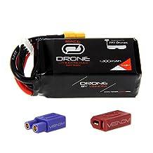Venom 75C 4S 1300mAh 14.8V Drone Racing LiPo Battery with Universal 2.0 Plug (XT60/Deans/EC3)