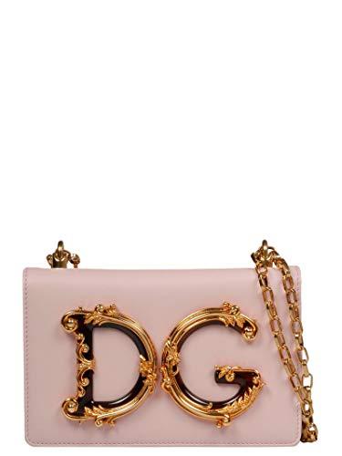 Dolce E Gabbana Women's Bb6498az8018h402 Pink Leather Shoulder Bag