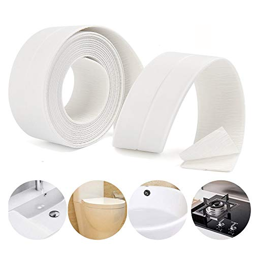 Lailieu Caulk Strip Adhesive Shower Strips Waterproof Bath Sealing Tape Strip, Anti-Mildew Tub Sealer Decorative Trim 1-1/2