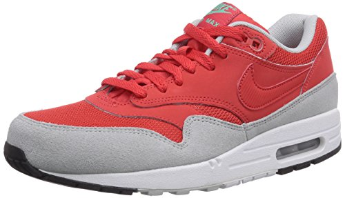 Nike Air Max 1 Essential, Chaussons Sneaker Homme Rouge (Daring Red/Daring Red/Grey Mist)