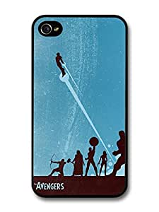Avengers Superheroes Comic Illustration case for iPhone 4 4S A003