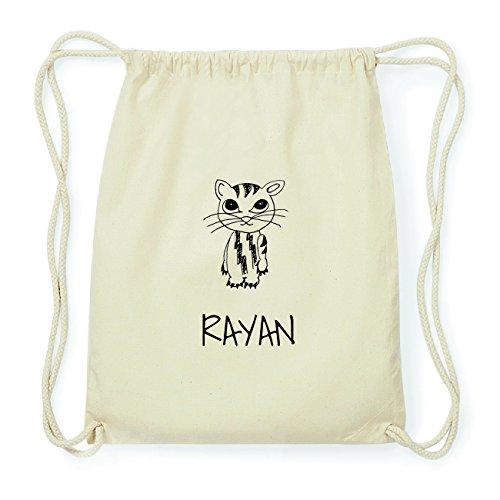 JOllipets RAYAN Hipster Turnbeutel Tasche Rucksack aus Baumwolle Design: Katze 0oAyNM