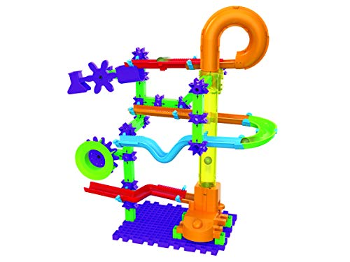 The Learning Journey Techno Gears Marble Mania STEM Construction Set - Catapult Marble Run (80+ pieces) - Learning Toys & Gifts for Boys & Girls Ages 6 Years and Up (Run Techno)