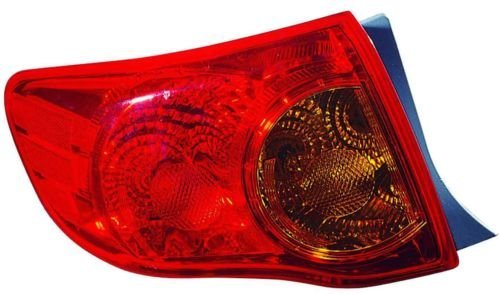 Toyota Corolla Replacement Tail Light Assembly on Body - Driver Side