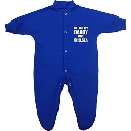 Me and my Dad Love Chelsea Baby Sleepsuit Babygro Newborn - 9 mths in 9 Colours