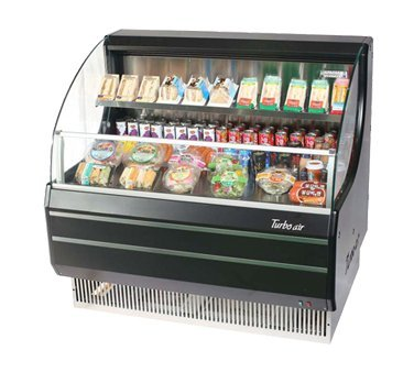 TOM40LB 39 Low Profile Display Merchandiser with Modern Design Attractive Glass Sides Environmental Friendly Refrigeration System Standard Back-Guard and Anti-Rust Coating: Black