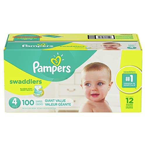 (Pampers Swaddlers Diapers, Size 4, 100 Count)