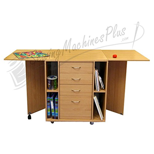 Kangaroo Kabinets K9206 Wombat, Beech Embroidery Cabinet with Sewing Chair