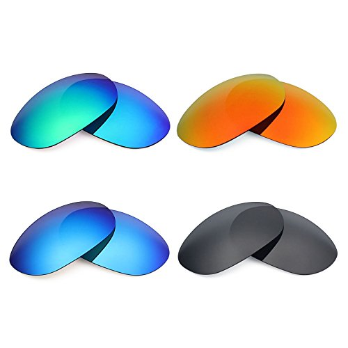 Mryok 4 Pair Polarized Replacement Lenses for Costa Del Mar Harpoon Sunglass - Stealth Black/Fire Red/Ice Blue/Emerald Green by Mryok