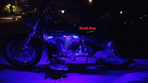 (RadLites 6 Piece Purple Motorcycle 66 LED Light Kit, Brightest!)