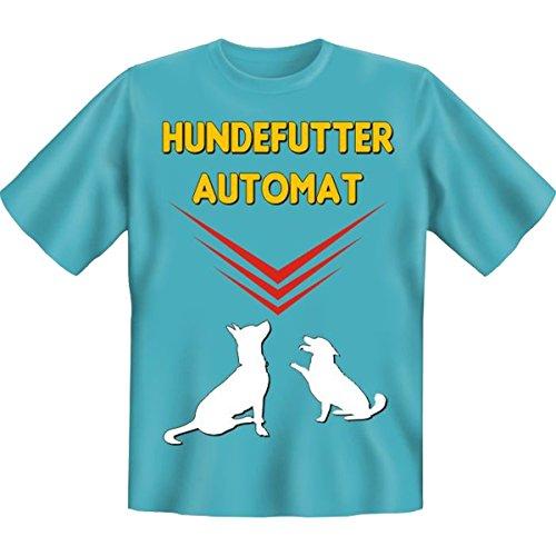 Fun T-shirt Hundefutter Automat Fb hellblau