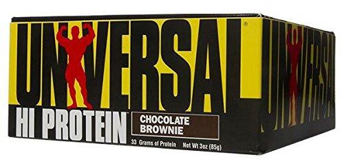 Universal Nutrition Hi Protein Bar Chocolate Brownie 16 Bars 3 oz 85 g Each
