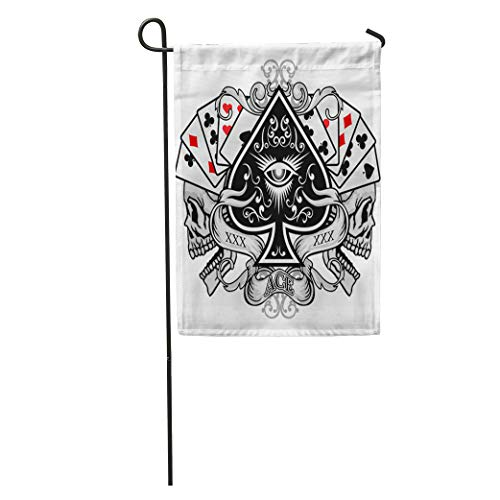 Semtomn Garden Flag Queen Gothic of Arms Skull