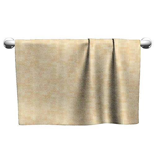 (Mannwarehouse Ivory Beach Activity Bath Towel Blurry Modern Themed Hazy Background with Simplistic Influences Abstract Artful Image W19 x L39 Cream)