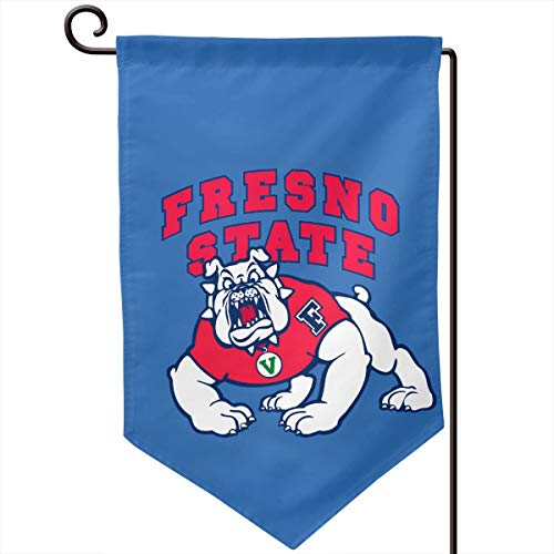 Sunmoonet Garden Flag Fresno State Bulldogs Football Home Yard Holiday Flags Double Sided Decorative House Decor Flag