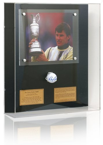 Nick Faldo Hand Signed Golf Ball Presentation. - Hand Signed Golf Ball