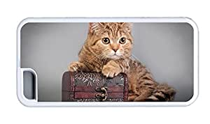 Cute iphone 5C grove covers Cat with box TPU White for Apple iPhone 5C