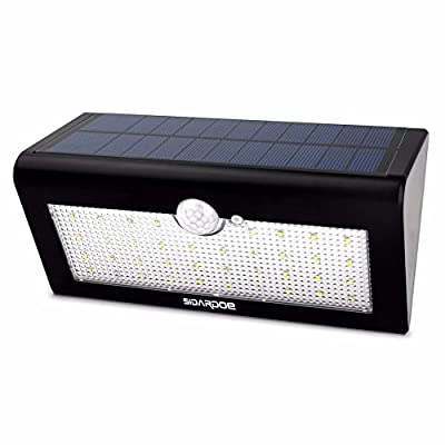 SIDARDOE Solar Powered Motion Sensor Light with 38 LED Solar Lights, Wireless Waterproof LED Security Lights with 3 Modes for Garden, Outdoor, Fence, Yard, Home, Driveway, Stairs, Outside Wall