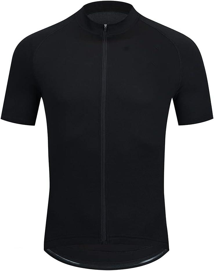 Maillot Ciclismo Hombre, Manga Corta Camiseta, Tops Ciclismo Bicicleta Bici Transpirable Secado Rápido Reflectante Jersey