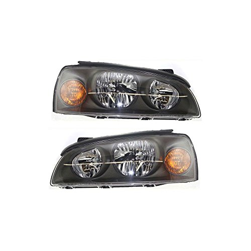 Headlight Set Of 2 For Elantra 04-06 Right and Left Side Assembly Halogen ()