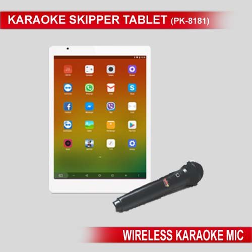 Persang Karaoke Skipper PK-8181 Tablet Karaoke with Wireless Mic, White