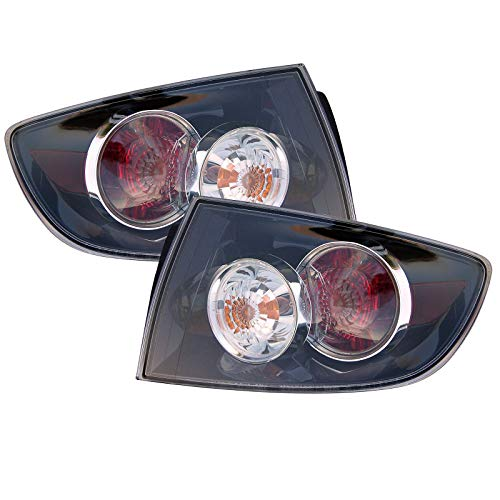 HEADLIGHTSDEPOT Compatible with Tail Lights Set Left Driver Right Passenger Pair Sedan 4Dr (STD Type) Fits Mazda 3