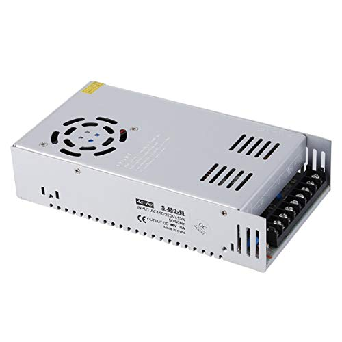 48V 10A DC Universal Regulated Switching Power Supply, for CCTV, Radio, Computer Project, LED Strip Lights