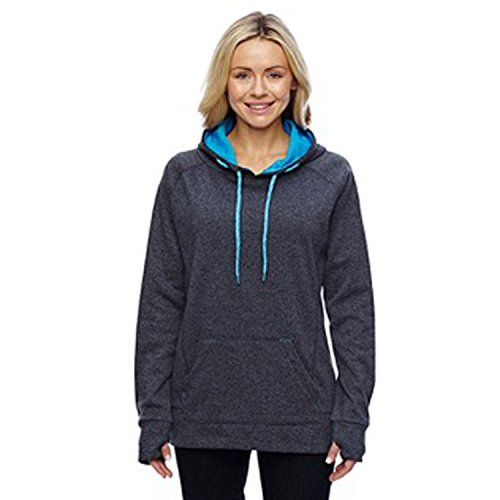 Monogrammed Sweatshirt Ladies Contrast Pullover Hooded Sweatshirt (Black (Monogrammed Hoodie)