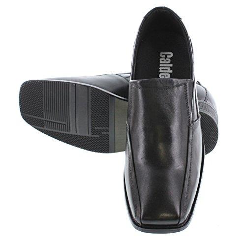 Calden–k02857,1cm größer die Höhe zunehmende Schuhe für Herren (schwarz Slip auf Fahrrad, quadratisch Fuß