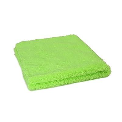 Autofiber Zeroedge Detailing Towel (Pack of 5) Edgeless Microfiber Polishing, Buffing, Window, Glass, Waterless, Rinseless, Car Wash Towels (Green): Automotive