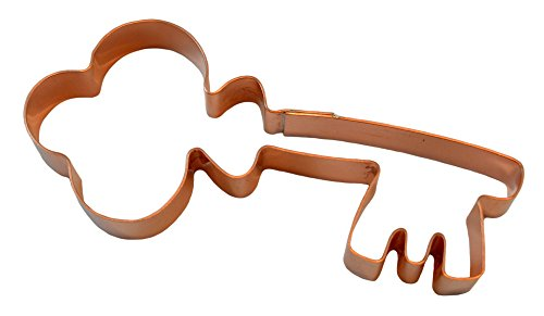 Fancy Old Fashioned Skeleton Key Copper Cookie Cutter - Bouquet Cookie Halloween