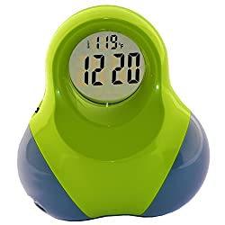 New Arrival, Digital Talking Alarm Clock for Kids, Cool Modren Battery Operated Clock For Boys And Girls Green