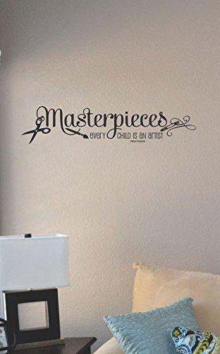 JS Artworks Masterpieces Every Child is an Artist Vinyl Wall Art Decal Sticker