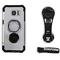 Rokform [Galaxy S7 Edge] Pro Series Motorcycle Mount kit and Rugged Case, CNC Machined Aluminum, twist lock and magnetic mounting
