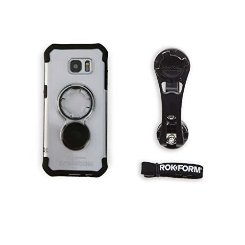 Rokform [Galaxy S7 Edge] Pro Series Motorcycle Phone Mount kit and Rugged Case, CNC Machined Aluminum, twist lock and magnetic mounting