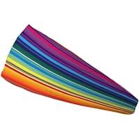 Bondi Banda Colorful Stripes Absorbe la Humedad 10,2cm Headband