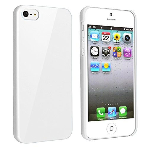 Leegoal DIY White Hard Snap-on Cover Case for Apple iPhone 5 - by Pixiheart