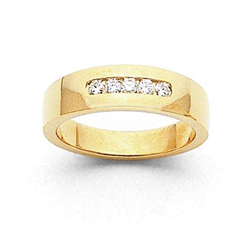 14k AA Diamond Men's Channel Band Diamond quality AA (I1 clarity, G-I color) (Band Channel Diamond Aa Mens)