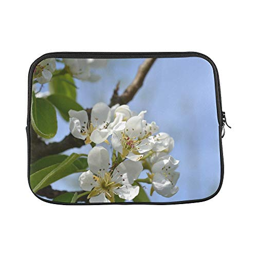 Design Custom Pear Blossom Flower Pink Close Up Bud Nature Sun Sleeve Soft Laptop Case Bag Pouch Skin for MacBook Air 11