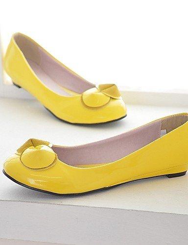 Cn38 Uk3 Yyz Semicuero us7 Punta Redonda Blanco 5 Zapatos us5 Rosa Uk5 5 Amarillo Eu35 De Cn34 Tac¨®n Plano Pink Eu38 Mujer Negro Casual Yellow Zq Planos 4fqd1w4