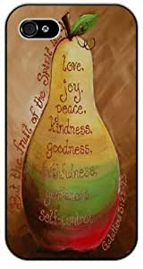 But the fruit of the spirit is ... Love, joy, peace, kindness, goodness - Vintage Apple - Galatians 5:22 - Bible verse iPhone 5 / 5s black plastic case / Christian Verses