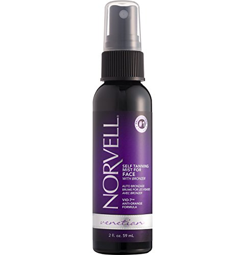 Norvell Venetian 4-Faces Sunless Facial Self-Tanning & Touch-up Spray - Non Comedogenic Bronzing Tanner for Natural Sun-Kissed Glow, 2 fl.oz. (NEW PACKAGING)