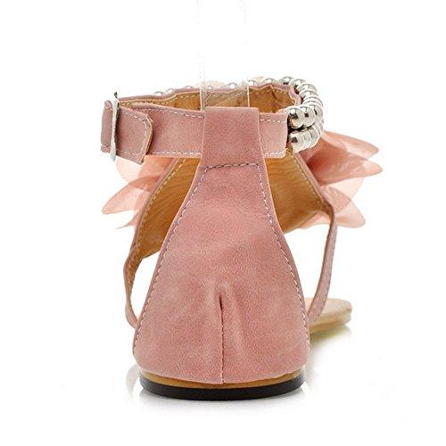 Femmes Sandales Bohemia Pink Plats Fleur Melady Doux AxqdfF88