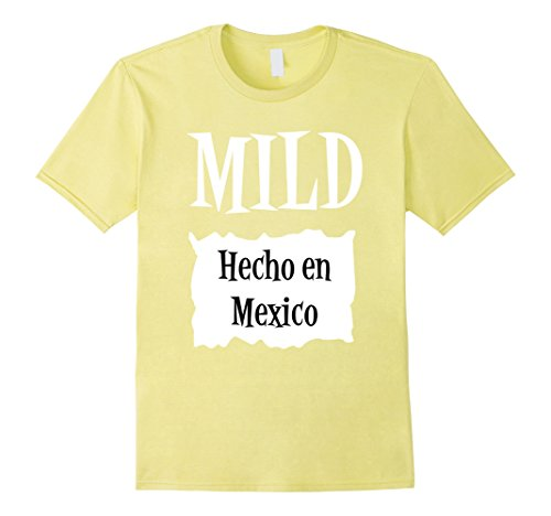 Mens Halloween Costume T Shirts - Mild Hot Sauce Packet Taco Tee Medium Lemon (Mexico Costumes Ideas)
