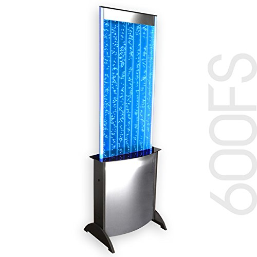 Water Floor Panel Fountain (Large Floor Standing LED Bubble Wall 600FS 68