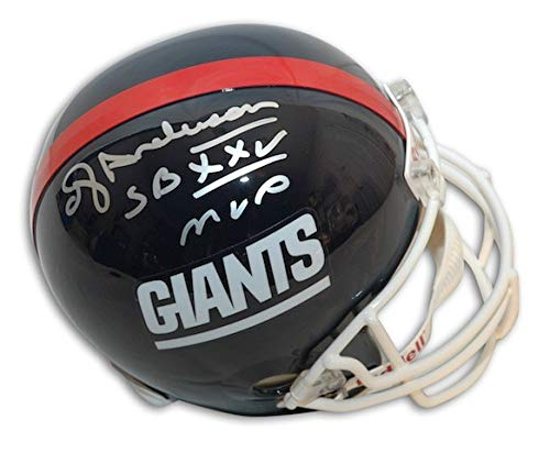Autographed Ottis OJ Anderson Giants Riddell Replica Helmet inscribed SB XXV MVP - Certified Authentic Signature
